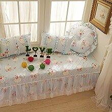 Schlafzimmer wohnzimmer matratze garden lace floating window mat fensterbank-pad tatami-matten teppich-A 180x90cm(71x35inch)