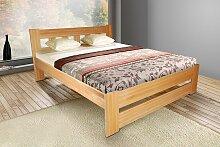 Schlafzimmerbett Bett - Bert - Kernbuche Massiv Natur 180x200 cm