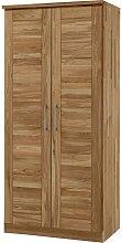 Schlafzimmerschrank aus Wildeiche Massivholz 2 Türen