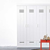 Schlafzimmerschrank im Spind Design Weiß