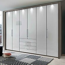 Schlafzimmerschrank in Braun und Weiß Falttüren