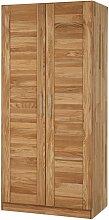 Schlafzimmerschrank mit 2 Türen Wildeiche Massivholz