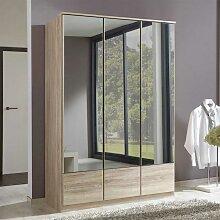 Schlafzimmerschrank mit Drehtüren Spiegeltüren