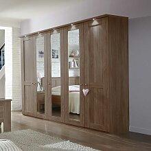 Schlafzimmerschrank mit Spiegeltüren Eiche