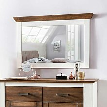 Schlafzimmerspiegel in Weiß Braun Kiefer Massivholz