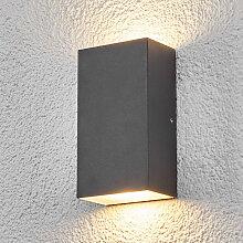 Schlanke Außenleuchte anthrazit inkl. LED IP44 -