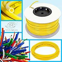 Schlauch 1 Meter 1/4 Zoll Gelb / für Umkehrosmose Kühlschrank etc