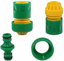 Schlauch Verbinder Tischler Kunststoff Garten Werkzeuge Waschen Wasser Bewässerung Schlauch Quick Connectors Adapter [2St.] & 1/2'Double Stecker Tischler Luft Wasser Splitter [1PCS]