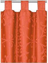Schlaufen oder Ösenschal - Vorhang-Gardine Maßanfertigung im Milanodesign Terrakotta 160cm x 200cm Schlaufenschal , Farbe und Größe wählbar