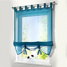Schlaufen Raffrollo Gardinen Transparent Vorhänge