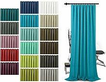 Schlaufenschal - leicht changierend - Wohndekoration in elegantem Design - unifarbener Dekostoff in 17 Farben, türkis