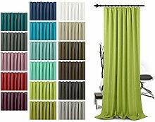 Schlaufenschal - leicht changierend - Wohndekoration in elegantem Design - unifarbener Dekostoff in 17 Farben, hellgrün