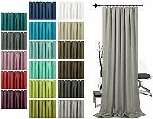 Schlaufenschal - leicht changierend - Wohndekoration in elegantem Design - unifarbener Dekostoff in 17 Farben, taupe