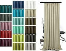 Schlaufenschal - leicht changierend - Wohndekoration in elegantem Design - unifarbener Dekostoff in 17 Farben, creme