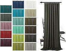 Schlaufenschal - leicht changierend - Wohndekoration in elegantem Design - unifarbener Dekostoff in 17 Farben, schwarz