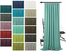 Schlaufenschal - leicht changierend - Wohndekoration in elegantem Design - unifarbener Dekostoff in 17 Farben, aqua