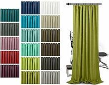 Schlaufenschal - leicht changierend - Wohndekoration in elegantem Design - unifarbener Dekostoff in 17 Farben, grün