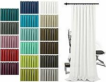 Schlaufenschal - leicht changierend - Wohndekoration in elegantem Design - unifarbener Dekostoff in 17 Farben, weiß