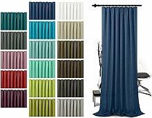 Schlaufenschal - leicht changierend - Wohndekoration in elegantem Design - unifarbener Dekostoff in 17 Farben, dunkelblau