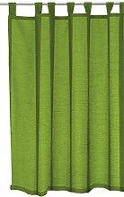 Schlaufenschal Seidenglanz halbtransparent Vorhang