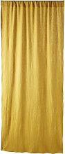 Schlaufenvorhang aus Baumwolle, senfgelb, 1