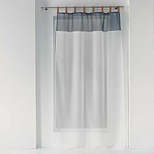 Schlaufenvorhang aus Kunstleder, 140 x 240 cm,