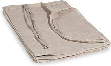 Schlaufenvorhang aus Leinen, beige, 105x300, 1