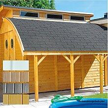 Schleppdach für Gartenhaus Nautic Elementhaus , Ausfuehrung:Fichte naturbelassen