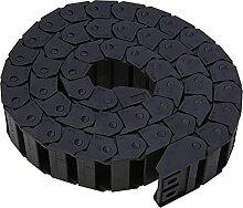 Schleppkette Kunststoff 15 x 30mm schwarzes