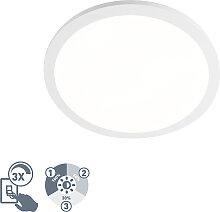 Schlichte Deckenleuchte weiß rund 40cm IP44 inkl.