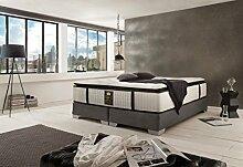 Schlichter Möbel Boxspringbett Continental (Grau,