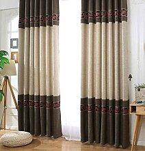 Schlichter Stil Verdunklungsvorhang für Fenster,