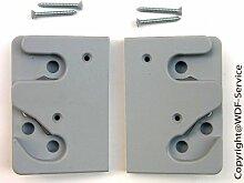 Schließplatten-Set grau, für