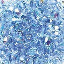 Schliffperlen Glas 4mm aquamarin