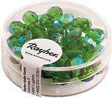 Schliffperlen Glas 6mm smaragd