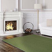 Schlingen Teppich Cambridge - Farbe wählbar - Geprüfte Qualität: schadstoffgeprüft pflegeleicht robust und antistatisch - für Wohnzimmer Schlafzimmer Flure Büros und auch Fußbodenheizung geeignet, Farbe:Grün, Größe:200 x 220 cm
