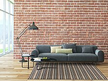 Schlingen Teppich Chipmunk - Farbe: Braun, Grau oder Rot gestreift | hochwertige und strapazierfähige Qualität | Fußbodenheizung geeignet | für Wohnzimmer Schlafzimmer Kinderzimmer und Büro, Farbe:Braun, Größe:400 x 500 cm