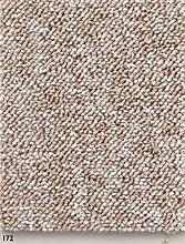 Schlingen Teppich in der Farbe beige erhältlich  