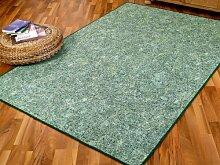Schlingen Teppich Memory Grün Meliert in 24