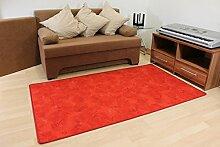 Schlingen Teppich Paint Rot Größe 100 x 170cm