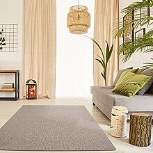 Schlingen Teppich Snake - Farbe wählbar | Geprüfte Qualität: schadstoffgeprüft robust pflegeleicht und antistatisch | für Wohnzimmer Schlafzimmer Flure und auch für Fußbodenheizung geeignet, Farbe:Hellbraun, Größe:200 x 200 cm