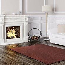 Schlingen Teppich Stanford - Farbe: Grau Blau Anthrazit Grün oder Rot | besonders strapazierfähige Qualität | Fußbodenheizung geeignet | für Wohnzimmer Schlafzimmer Kinderzimmer und Büro, Farbe:Rot, Größe:180 x 200 cm