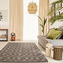 Schlingen Teppich Torro - Farbe wählbar | Geprüfte Qualität: die Teppiche sind schadstoffgeprüft robust und pflegeleicht | u.A. für Wohnzimmer Schlafzimmer Flure und auch Fußbodenheizung geeignet, Farbe:Braun, Größe:80 x 160 cm