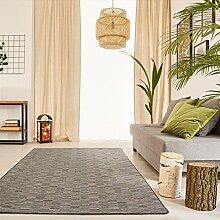 Schlingen Teppich Torro - Farbe wählbar | Geprüfte Qualität: die Teppiche sind schadstoffgeprüft robust und pflegeleicht | u.A. für Wohnzimmer Schlafzimmer Flure und auch Fußbodenheizung geeignet, Farbe:Grau, Größe:80 x 400 cm