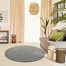 Schlingen Teppich Torro rund - Farbe wählbar | Geprüfte Qualität: die Teppiche sind schadstoffgeprüft robust und pflegeleicht | u.A. für Wohnzimmer Schlafzimmer Flure und auch Fußbodenheizung geeignet, Farbe:Grau, Größe:80 cm rund