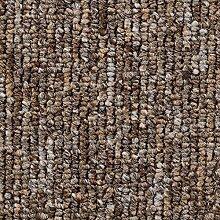 Schlingen-Teppichboden in Braun   weiche &