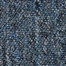 Schlingen-Teppichboden in der Farbe Blau meliert |