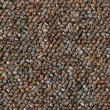Schlingen-Teppichboden in der Farbe Braun meliert