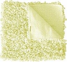 Schlingenteppich, beigefarbener Langflorteppich, beige-gelblich 60 x 120 cm