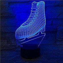 Schlittschuhe Nachtlicht 3D Schlaflicht LED Licht